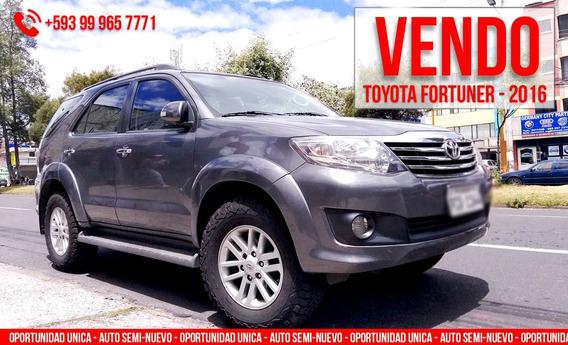 Vendo Auto De Oportunidad - Toyota Fortuner - 2016