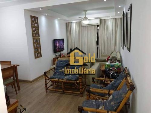 Apartamento Com 3 Dormitórios À Venda, 106 M² Por R$ 300.000 - Parque Industrial Lagoinha - Ribeirão Preto/sp - Ap2094
