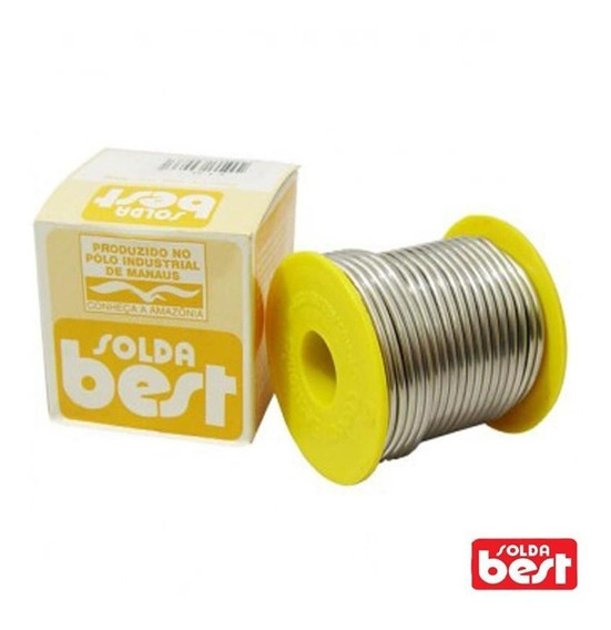 Solda Best 10 A 24 500 2,4mm Gramas Carretel Amarelo