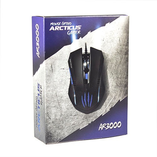 Kit 10 Mouses Gamer 3000 Dpi Usb 6 Botões Arcticus Ar3000