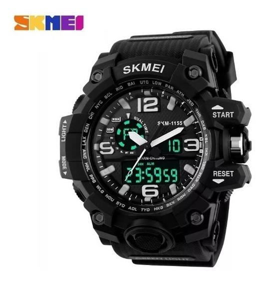 Relógio Masculino Skmei S-shock Original Prova De Água 50 Metros Estilo Militar Super Resistente A Quedas 100% Funcional