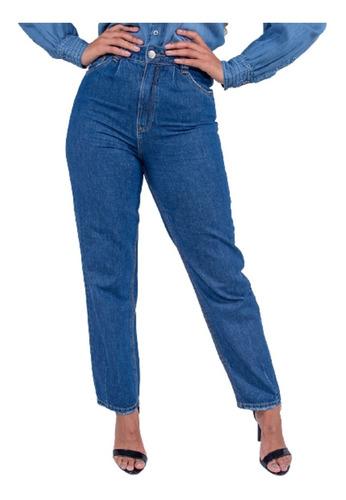 Imagem 1 de 4 de Calça Jeans Mom Feminina Revanche Cristina
