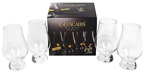 Glencairn De Whisky De Cristal, Juego De 4 En Una Caja De