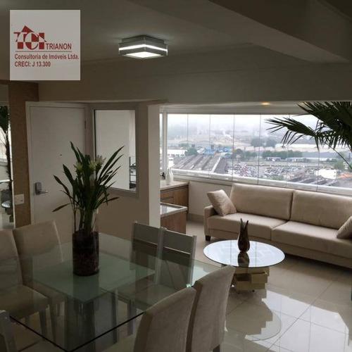 Magnífica Duplex Cobertura,  5 Dorms, (4 Suites) Mobiliado E Decorado, - Co0266