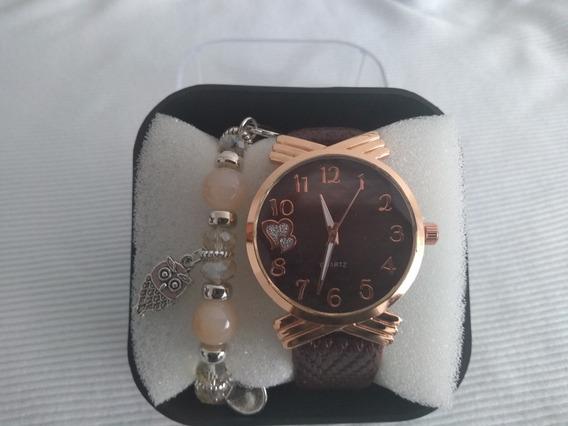 Relógio Feminino De Pulso Stainless Steel Back Barato