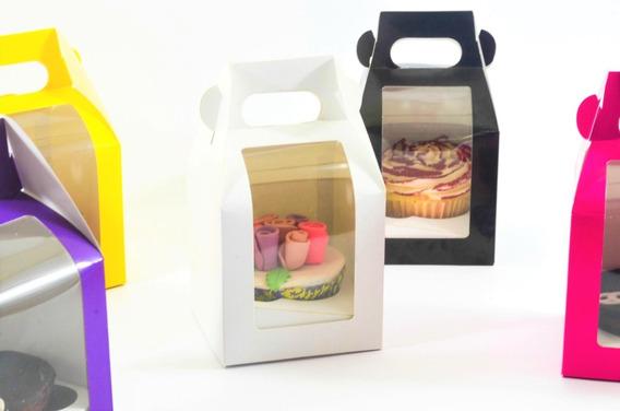 10 Cajas Cupcake Boxlunch 1 Cavidad De Color