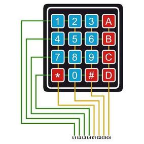 Teclado Membrana Matricial 4x4 16 Teclas Keypad Arduino