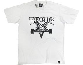 Camiseta Skate Thrasher Goat Branca100%algodão Ótima Qualid