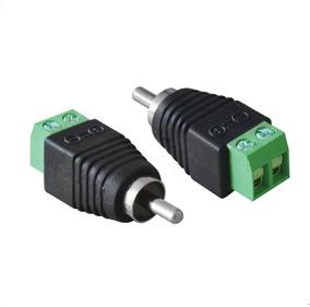 Conector Rca Com Borne Macho Sv35 Vinik 10 Unidades