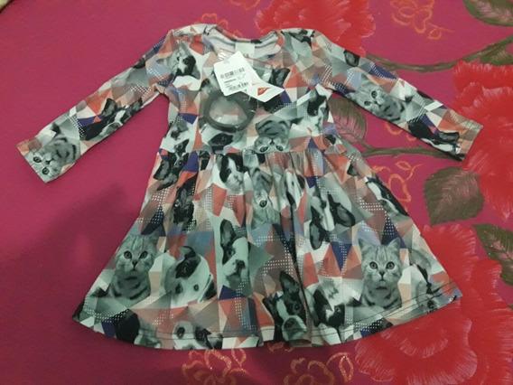 Vestido Infantil Novo Menina Bebe 12 A 18 Meses