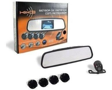 Kit Sensor De Estacionamento Câmera De Ré Espelho-40-ret3