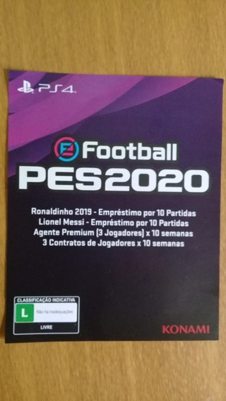 Pes 2020 Ps4 - Código Para Bônus No My Club
