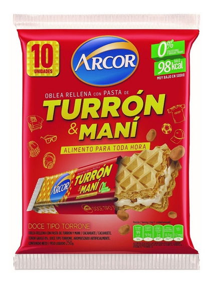 Combo Saludable De Arcor Turrón Y Natural Break