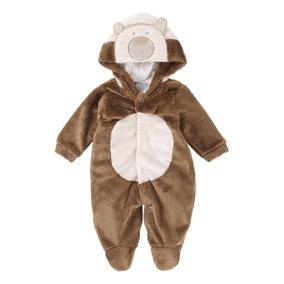 Macacão Longo Em Pelúcia Com Bordado De Urso Menina 920678