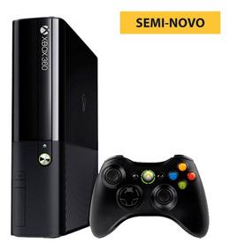 Xbox 360 Superslim Travado Seminovo C/garantia + 1 Controle