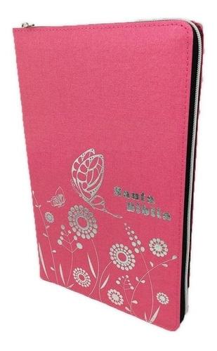Biblia Con Cierre Rosa Nueva Traducción Viviente (ntv)