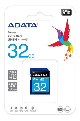 Memoria Sd Adata 32gb Clase 10 Premier Sdxc/sdhc Uhs-i