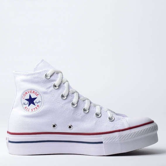 Tênis Converse All Star Plataforma Cano Longo Branco