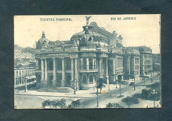 Rio De Janeiro Brasil . Antigua Tarjeta Postal . Teatro .