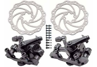 Kit Freio À Disco Mec Bicicleta Pinça + Rotores 160mm