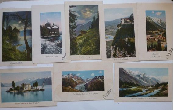 Suiza Lote De 15 Postales Paisajes Excelente Estado
