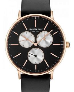 Reloj Kenneth Cole Hombre, Tono Negro Y Rosé,14946006.