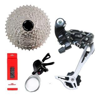 Kit Transmissão Grupo Sunrace 9v 1x 9v 11x40 Mtb Bike Full