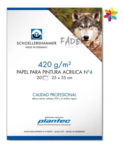 Block Plantec Schoellershammer Acrilico 420g 25x35