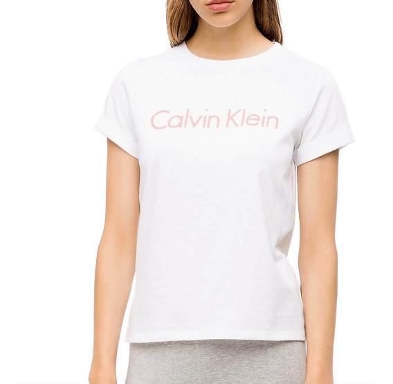 Camiseta Básica Calvin Klein Manga Curta Em Algodão