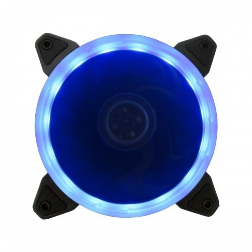 Cooler Fan 120mm Ventoinha Bluecase Ring Bfr-05b Led Azul Nf