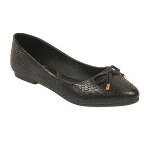 Flats Casuales De Vestir Para Dama Negros 015728 Tp19