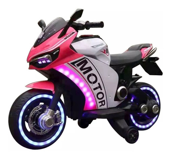 Moto A Bateria 12v Rueditas Mp3 Luces Zaki Babymovil Full