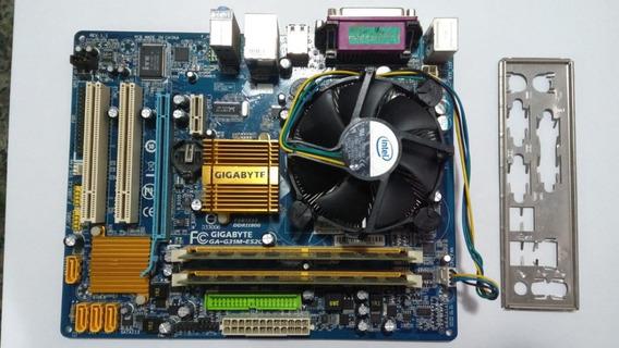 Kit Placa Mãe + Core 2 Quad Q8400 + 4gb Ddr2