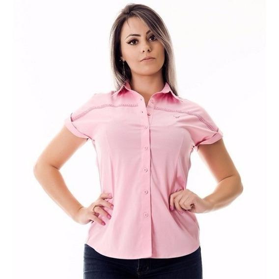 Kit 4 Camisetas Femininas Sociais Atacado De Marca Promoção