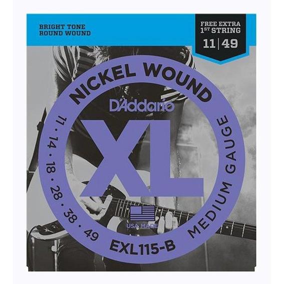 Encordoamento Daddario 011 Guitarra Exl115 +1a. Corda Extra
