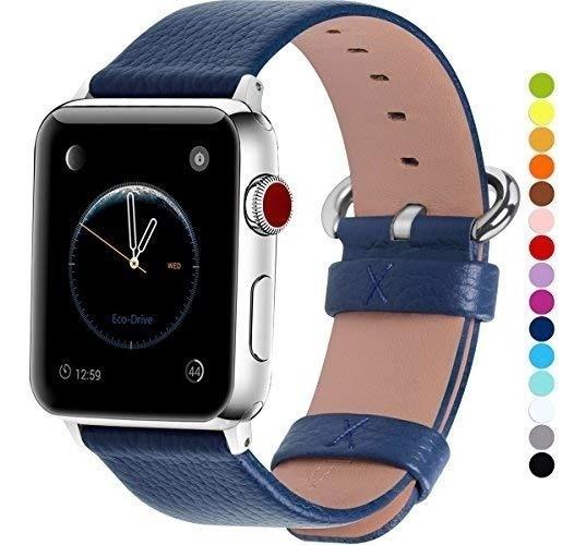 Extensible Correa Apple Watch Cuero Azul 38 40 42 44mm