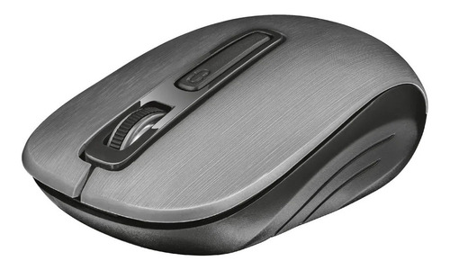 Mouse Inalambrico Usb Trust Aera Metalizado Gris-negro
