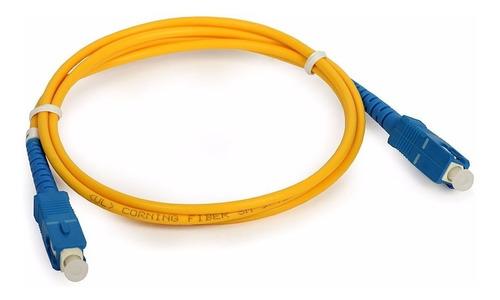 Cable Patch Cord De Fibra Optica Router Antel 10 Mt Metros ®