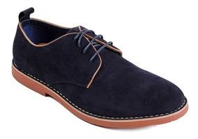 Zapatos Gamuza Azul Oscuros