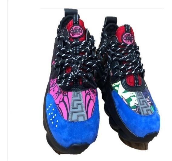 Sneakers Tenis Versace Reaction, Envío Gratis