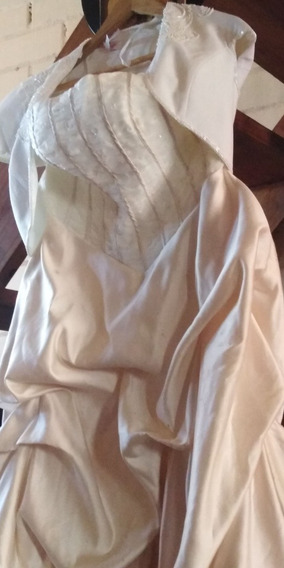 Vestido De Novia Color Marfil Talla L