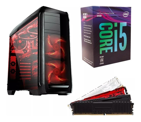 Cpu Gamer I5 8400 8gb Ddr4 Gtx 1050 Ti 4gb Ssd 240 Roda Tudo