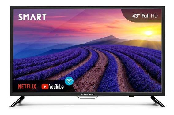 Smart Tv Led 43 Pol Hd Função Wifi, Hdmi, Usb Tl004