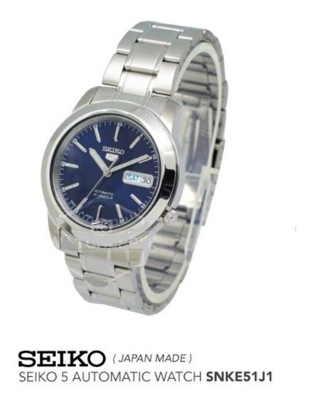 Relógio Aço Seiko 5 Snke51 Automático 21 Jewels Original