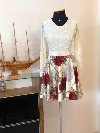 Vestido Curto Renda Festa Casamento C/cinto Brinde