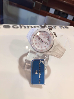 Reloj Pulsera Technomarine Crono Sumergible Caja De Acero