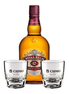Whisky Chivas Regal 12 Años 1 Litro + 2 Vasos