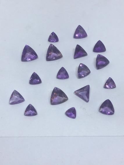 Ametista Natutal Lapidada Preciosa Triangulo