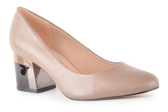 Zapatos De Mujer De Cuero Vacuno Lava Negro - Ferraro -