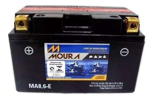Bateria Moto Moura Cbr 500 R Cbr 600f Hornet 08 A 14 Ma8,6-e